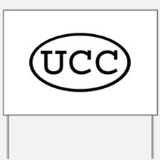 UCC Oval Yard Sign