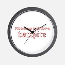 Holding Out for a Vampire Twilight Wall Clock