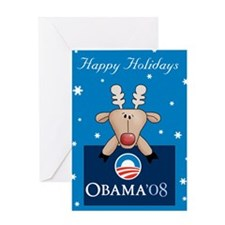 Obama Christmas Card Greeting Card
