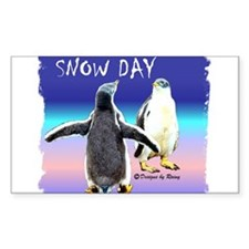 Penguin Snow Day No School - Rectangle Decal