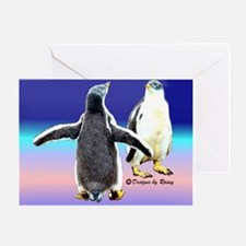 Penguin Snow Day No School - Greeting Card