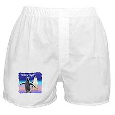 Penguin Snow Day No School - Boxer Shorts