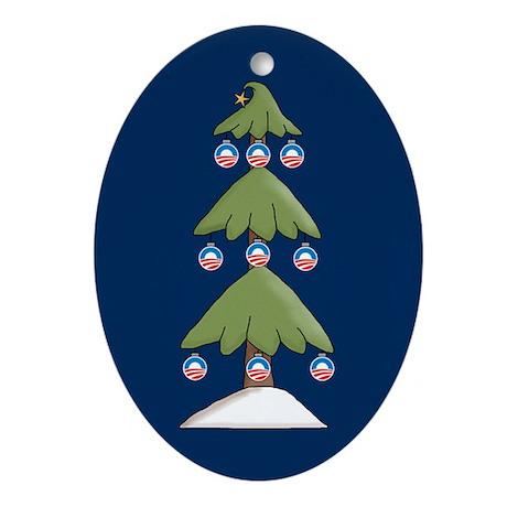 Obama Christmas Ornament Oval Ornament