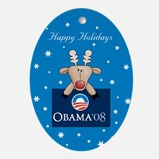 Barack Obama Reindeer Christmas Ornament