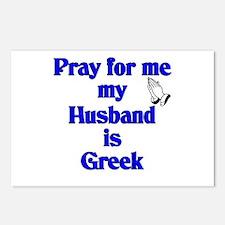 Prey for me my Husband is Greek Postcards (Package