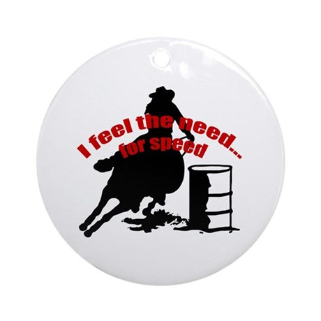 Barrel racing need for speed Ornament (Round)