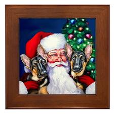 Santa's GSD Christmas Framed Tile