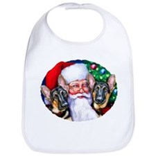 Santa's GSD Christmas Bib
