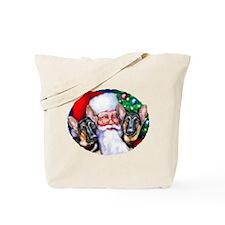 Santa's GSD Christmas Tote Bag