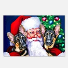 Santa's GSD Christmas Postcards (Package of 8)