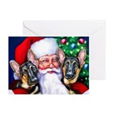 German shepherd christmas Greeting Cards (10 Pack)