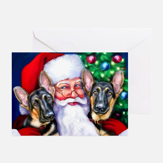 Santa's GSD Christmas Greeting Cards (Pk of 10)