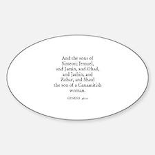 GENESIS 46:10 Oval Decal