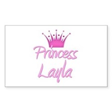 Princess Layla Rectangle Decal