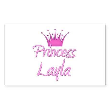Princess Layla Rectangle Sticker