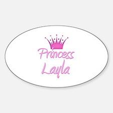 Princess Layla Oval Decal