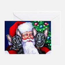 Santa's Black GSD Christmas Greeting Card