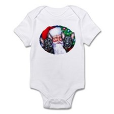 Santa's Black GSD Christmas Infant Bodysuit