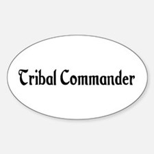 Tribal Commander Oval Decal