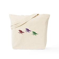 Rainbow Lizards Tote Bag