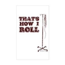 How I Roll (dist.) Rectangle Decal
