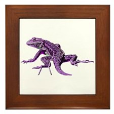 Purple Lizard Framed Tile