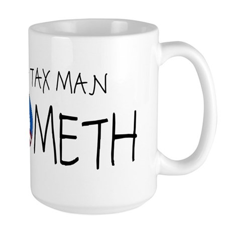 The Tax Man Cometh Large Mug