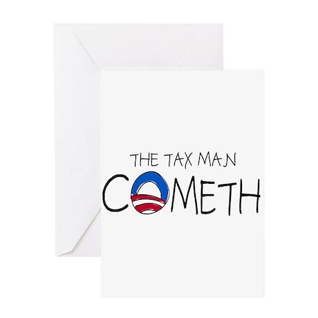 The Tax Man Cometh Greeting Card