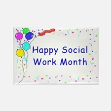 Happy Social Work Month Rectangle Magnet
