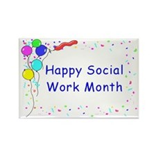 Happy SW Month Rectangle Magnets (10 pack)