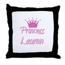 Princess Lauren Throw Pillow