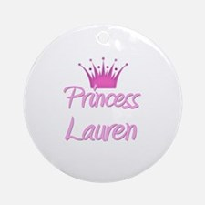 Princess Lauren Ornament (Round)