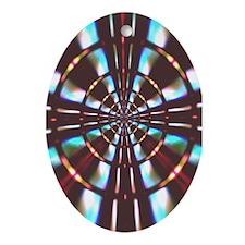 """Wheel"" Fractal Art Oval Ornament"