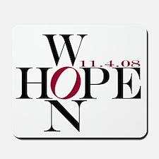 Hope Won: Barack Obama Victor Mousepad
