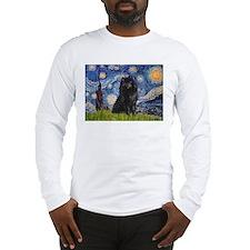 Starry Night Schipperke Long Sleeve T-Shirt