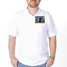 Starry Night Schipperke T-Shirt