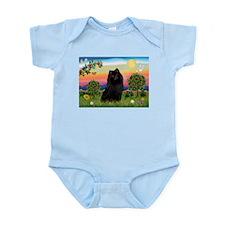 Schipperke in Bright Country Infant Bodysuit
