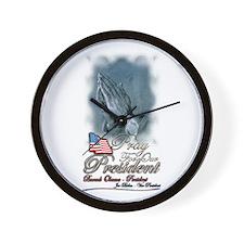 Pray for President Obama - Wall Clock