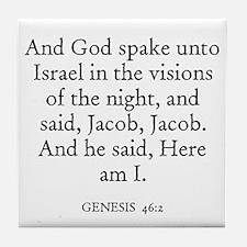 GENESIS  46:2 Tile Coaster