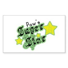 Paw's Super Star Rectangle Decal