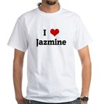 I Love Jazmine White T-Shirt