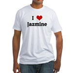 I Love Jazmine Fitted T-Shirt