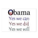 Obama: Yes we will Postcards (Package of 8)