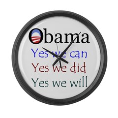 Obama: Yes we will Large Wall Clock