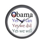 Obama: Yes we will Wall Clock