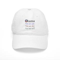 Obama: Yes we will Baseball Cap