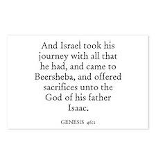 GENESIS  46:1 Postcards (Package of 8)