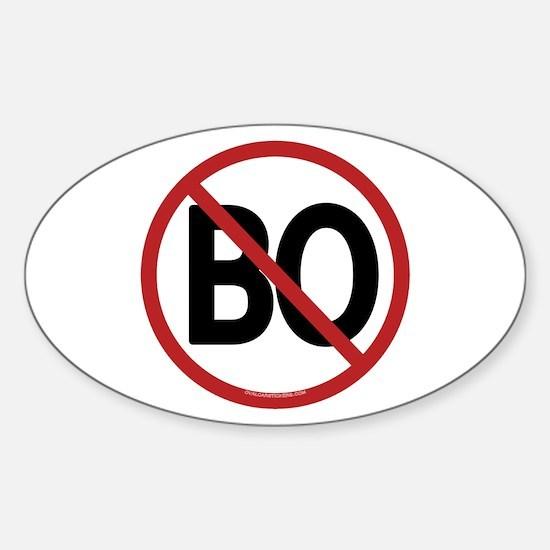 No BO - NObama Oval Decal