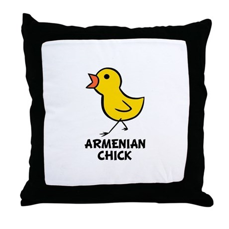 Armenian Chick Throw Pillow