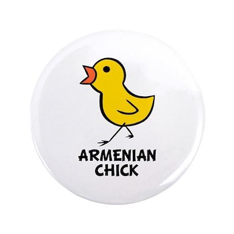 "Armenian Chick 3.5"" Button"